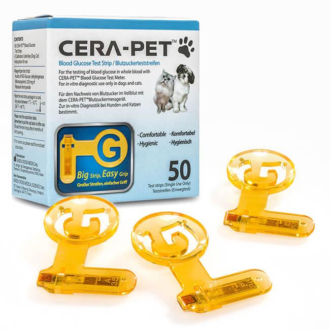 Cera-Pet Blutzuckermesssystem Blutzuckerteststreifen